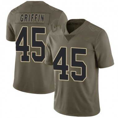 Men's Nike New Orleans Saints Garrett Griffin 2017 Salute to Service Jersey - Green Limited