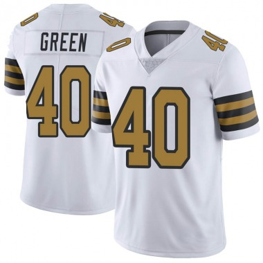 Men's Nike New Orleans Saints T.J. Green Color Rush Jersey - White Limited