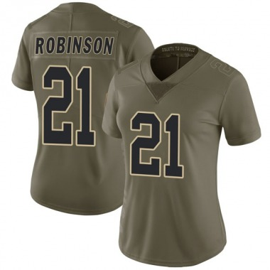 Women's Nike New Orleans Saints Patrick Robinson 2017 Salute to Service Jersey - Green Limited