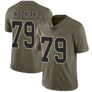 Youth Nike New Orleans Saints Nate Wozniak 2017 Salute to Service Jersey - Green Limited